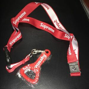 Supreme Lanyard Bottle Opener Red S/S 2014 New Keychain Logo