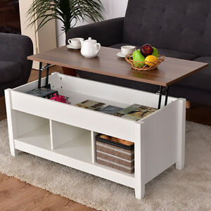 Image Is Loading Lift Top Coffee Table W Hidden Compartment And