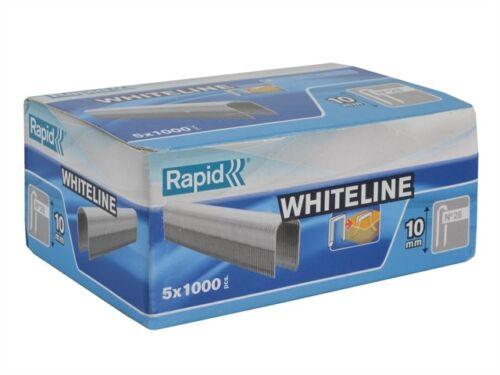 28//10 10mm DP x 5m White Staples Pack 5 x 1000 RPD2810W