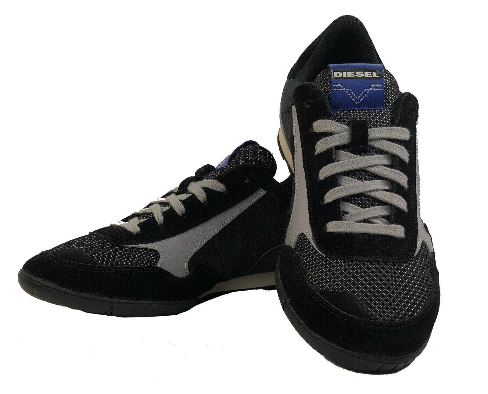 DIESEL Herren Turnschuhe Schuhe    S-TOCLAW  schwarz grau Größe EUR 45 - USA 12  5e8c74