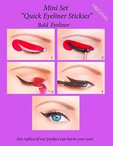 Quick-Eyeliner-Stickies-Stencils-Eye-Makeup-Tool-MINI-SET-24-Stk-ORIGINAL-SDE1