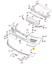 miniature 3 - Neuf-OEM-VW-Touareg-Avant-Pare-Choc-Droit-Gril-Chrome-Bord-Moulure-7L6853242A2ZZ