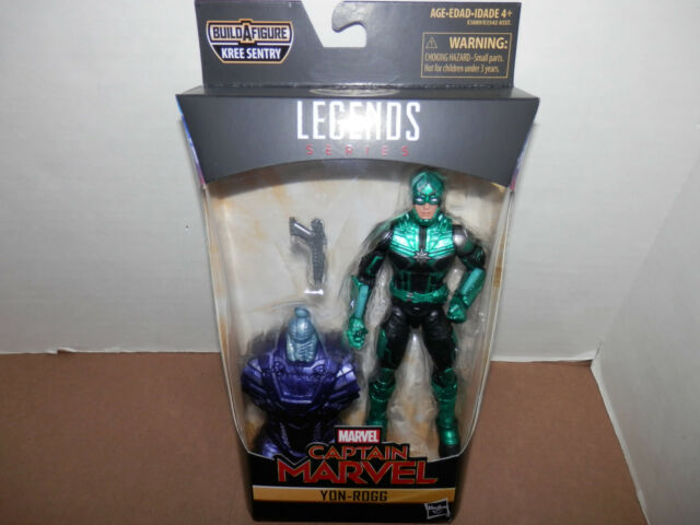 Marvel Legends CAPTAIN MARVEL MCU Movie YON-ROGG KREE SENTRY BAF NEW In Hand