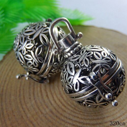 3x  Vintage Silver Copper Angel Baby Caller Harmony Ball Pendants Charms 51019