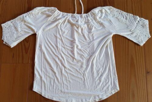 Neu Ärmeln Offwhite 40 An Mit Spitze Gr Creamshirt rzpwCqr