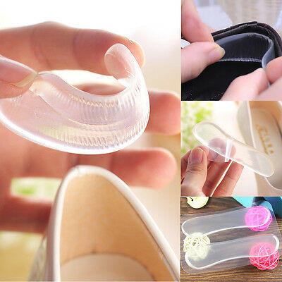 3 Pairs Classical Silicone Cushion Gel Heel Foot Care Shoe Insert Pad Insole