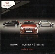 Kia Cee'd SR-7 SW-7 & Pro-Cee'd ZR-7 Limited Editions 2008-09 UK Market Brochure