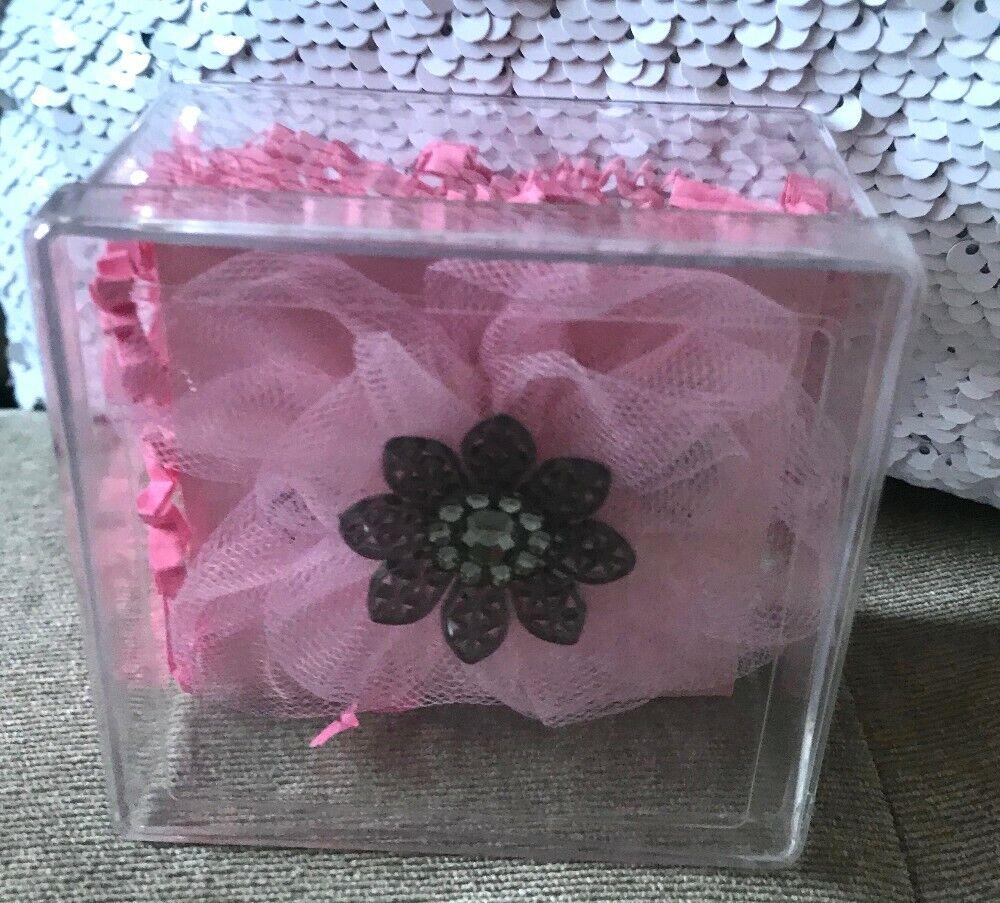 Tarina Tarantino hair clip pink  New in box  crystallized swarosvski elements