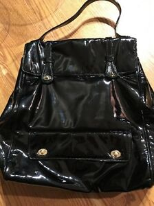aba675aba502 BARNEYS NEW YORK Nancy Black patent Leather Awesome Bag (MSRP 320 ...