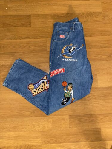 UNK x NBA Embroidered Logo Jeans 34x34