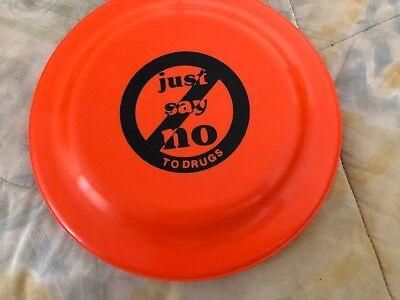 100% QualitäT Vintage Just Say No To Drugs Frisbee Disc Fliegende Untertasse 25.4cm Orange
