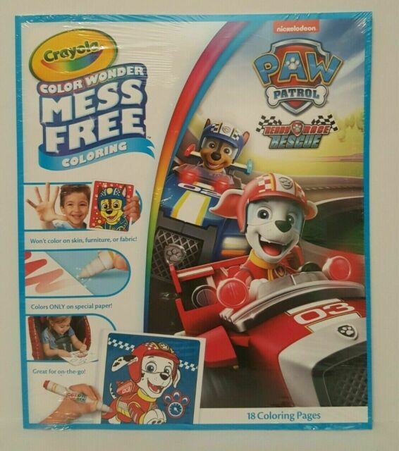 Paw Patrol Crayola Mess Coloring 18 Pages Ready Race Rescue For Sale Online  EBay