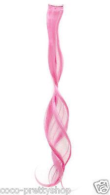 Bunte Haarsträhnen Haarsträhnchen Haarverlängerung Clip in Extensions div Farben