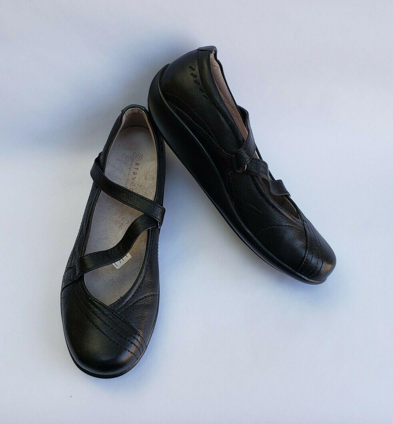la migliore selezione di Aravon scarpe nero nero nero Mary Janes Walking Comfort Lucie WEL03BK donna Dimensione 8.5 B  gli ultimi modelli