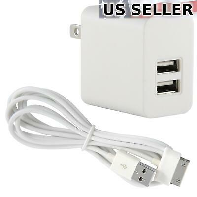 2A TRAVEL ADAPTER+6FT 30PIN USB CABLE WALL CHARGER BLACK GALAXY TAB 7.0 NOTE