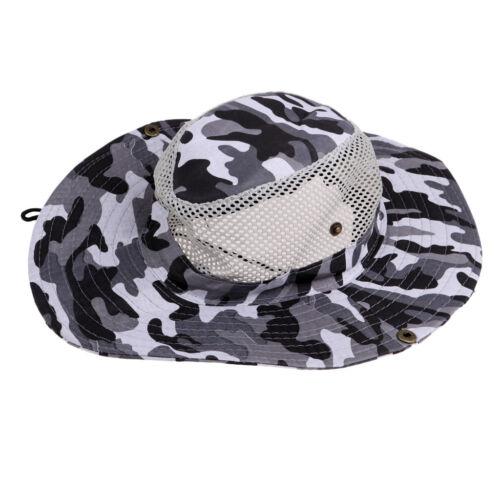 Men Women Wide Brim Sun Hat Outdoor Sun Proof Bucket Mesh Boonie Hat Sports