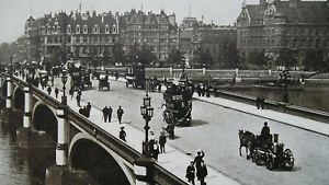 LONDON-Westminster-Bridge-Big-Ben-1904-Art-Nouveu-Era-Print