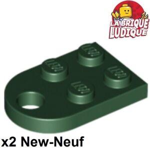 10x LEGO ® 88072 PIASTRE PIASTRA 1x2 CON GANCI NERO BLACK NUOVO