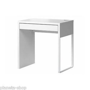 SCRIVANIA 73X50 CON CASSETTO -BIANCO - ARREDO UFFICIO PC IKEA MICKE ...