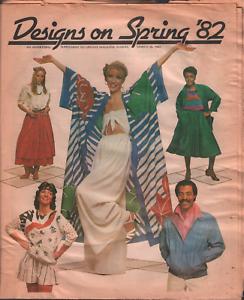 Designs on Spring 1982 Advertising Supplement Upstate Magazine Fashion 062320AME