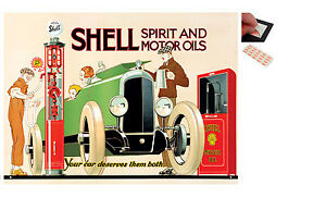 Shell Spirit And Motor Oils Metal Wall Art Sign Plaque - New