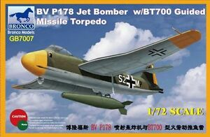Bronco-1-72-Blohm-amp-Voss-P178-Dive-Bomber-Jet-w-BT700-Guided-Missile-Torpedo-G