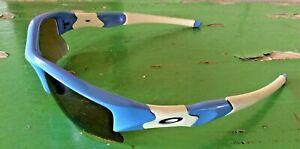 Oakley-Flak-Custom-Sunglasses-Baby-Blue-White-Unisex-W-Case-Cover-034-Jaguars-034