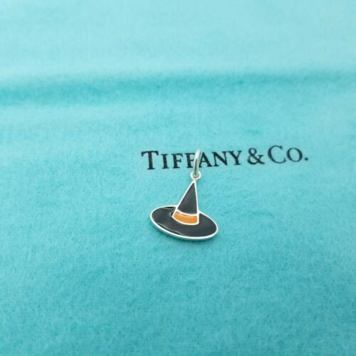 Tiffany & Co. 925 Sterling Silver Black & Orange E
