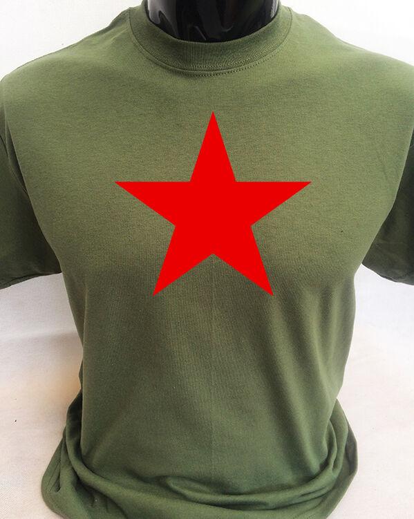 T-Shirt Manica Lunga Uomo Rossa T0744 Falce E Martello Comunismo Politica