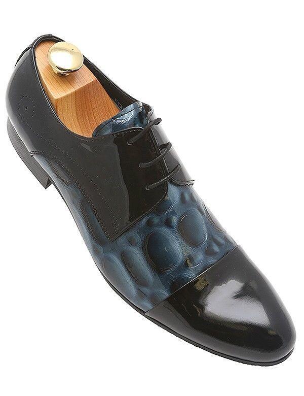 Encore Negro Azul Marino Europeo Inspirado Hombre Nuevo Vestido con Cordones