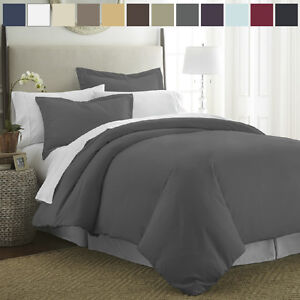 Premium Quality Ultra-Soft 3 Piece Duvet Cover Set by The Home Collection