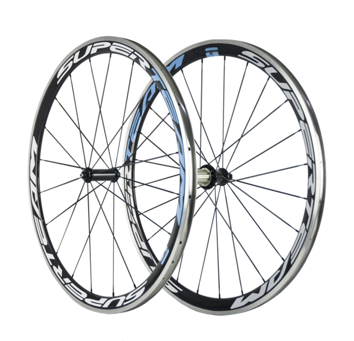 Superteam 38mm Clincher Powerway R36 Hub Carbon Wheels Aluminum Braking line F&R