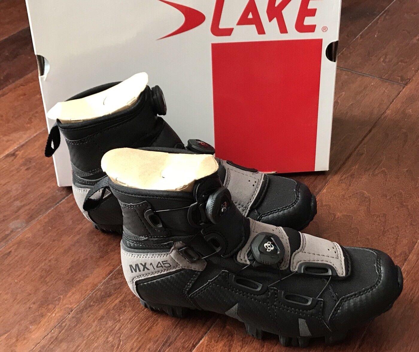 Lake MX145 2018 Para Hombre Negro gris para Ciclismo Bicicleta De Montaña botas Zapatos Talla EU 37 nos 6