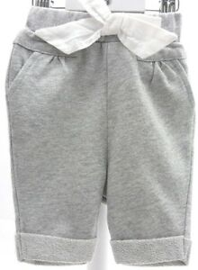 R-Baby-pantalon-tissu-jersey-gris-clair-paillette-gros-noeud-blanc-bebe-1-mois