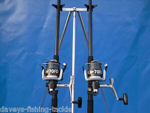Sea Fishing Kit 2 X 14ft Okuma Beachcaster Rods Silk70