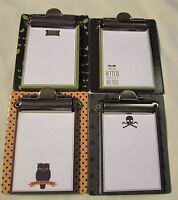 Halloween Mini Clipboard W/paper - Size 3 1/4 X 4 - 4 Different - U Pick
