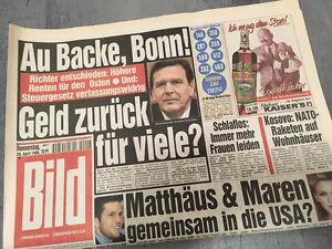 Bild-newspaper-dated-29-04-1999-18-19-20-Birthday-Gift-Gerhard-Schroder
