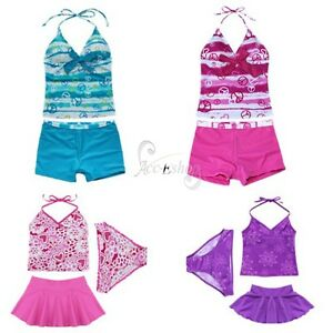 NWT-GIRLS-SIZE-8-16-TWO-PIECE-SWIM-BATHING-SUIT-TANKINI-KIDS-SWIMWEAR-TANKINI