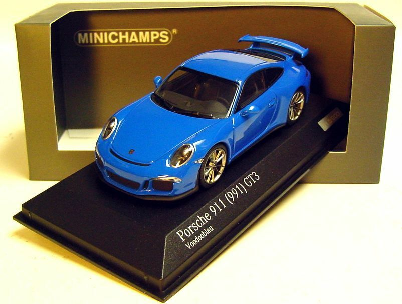 1 43 Minichamps Porsche 2012 911 991 GT3 VOODOO bleu cartima EXCLUSIVE LIMITED EDITION 200 pc