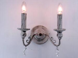 Plafoniere Da Parete Per Cucina : Lampada da parete applique vintage retrò shabby chic per soggiorno