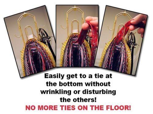 Belt Hanger holds 50 Ties Tie Rack Tie Hanger Closet Organizer BT Hanger