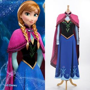 Image is loading Disney-Movie-Frozen-princess-Anna-cosplay-costume-Handmade-  sc 1 st  eBay & Disney Movie Frozen princess Anna cosplay costume Handmade Adult ...