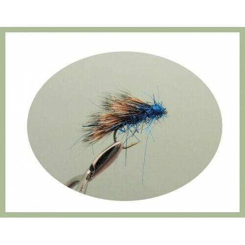Sedgehog Trout  Flies Mixed 10//12 6 Pack Blue half hogs For Fly Fishing