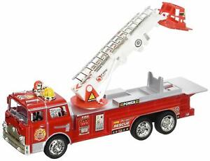 Fire Truck Toy Battery Operated Bump Go Flashing Siren