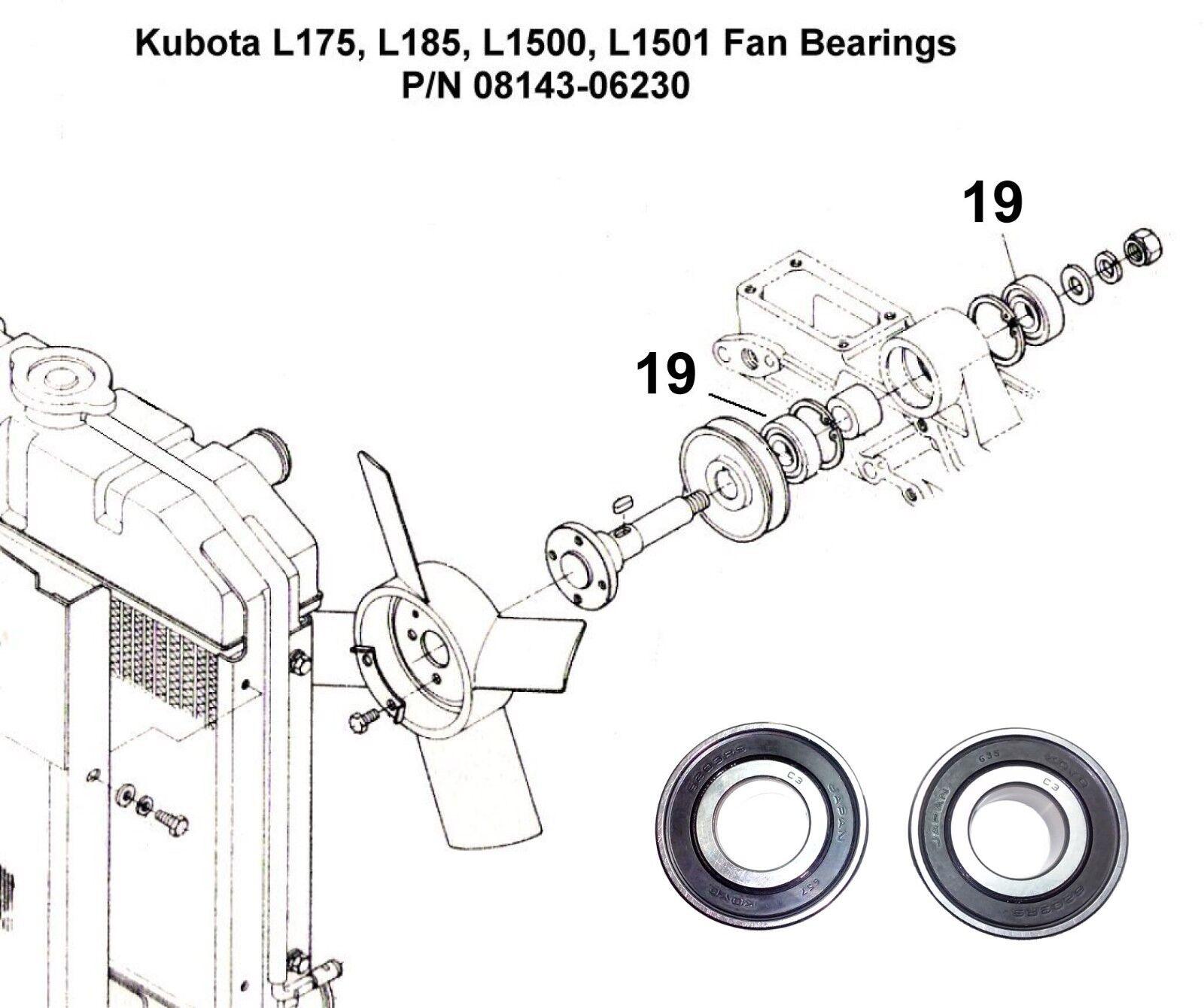 kubota l175 l185 l1500 l1501 fan bearing set 08143 06203 for salenorton secured powered by verisign