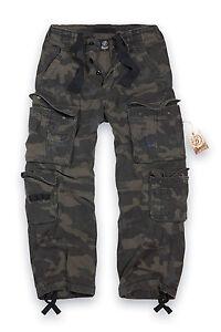 Militares Puro Oscuro Vintage Trabajo Brandit De Pantalones Ropa Hombre qA6FPwtxn