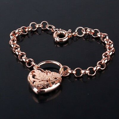 """Noble design charms wedding 18K rose gold filled HOT SALE bracelet 7""""19.7g"""
