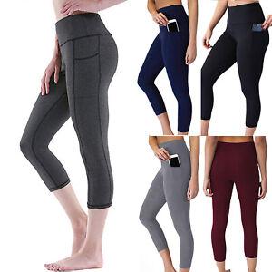 zuverlässigste Bestseller einkaufen Neue Produkte Damen 3/4 Kurze Hose Leggings Leggins Yoga Fitness Hosen ...