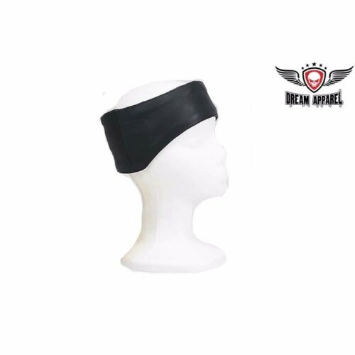 Covers Forehead /& Ears Leather Head Band With Elastic Strap free shipping
