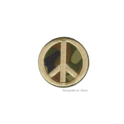 perchas imagen aprox Camouflage Peace Patch 50mm aufbügler